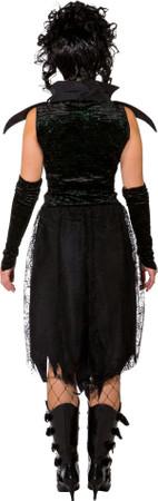 Dunkle Fee-Kleid mit Handschuhe – Bild 3