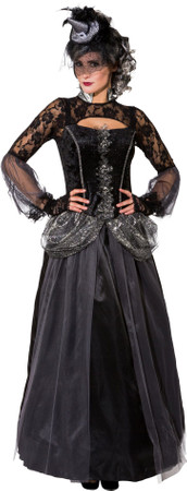 Halloween Königin-Kleid mit Reifrock – Bild 1