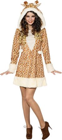 Giraffen-Kleid mit Kapuze – Bild 1