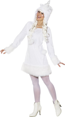Einhorn-Kleid mit Kapuze – Bild 1