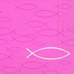 20 Lunch-Servietten Peaceful fish pink 001