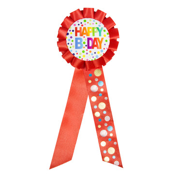 Anstecker Happy-Birthday Dots