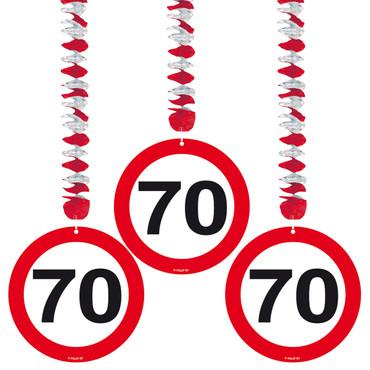 Rotorspiralen Verkehrsschild 70
