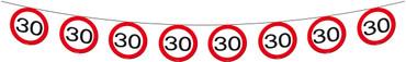 Wimpelkette Verkehrsschild 30