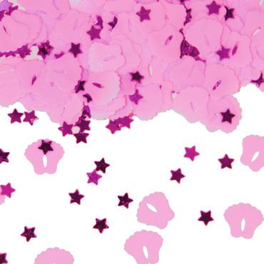 Folienkonfetti Baby-Füße rosa