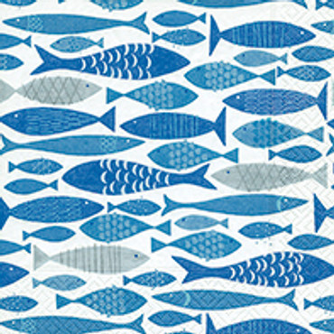20 Servietten Shoal of Fish