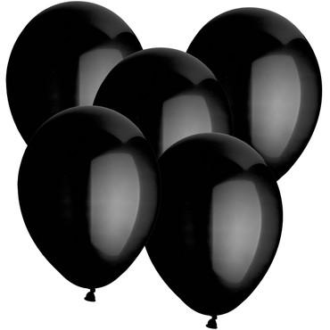 10 Ballons schwarz