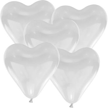 100 Herzballons Ø 35cm weiss