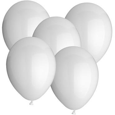 100 Rundballons weiß