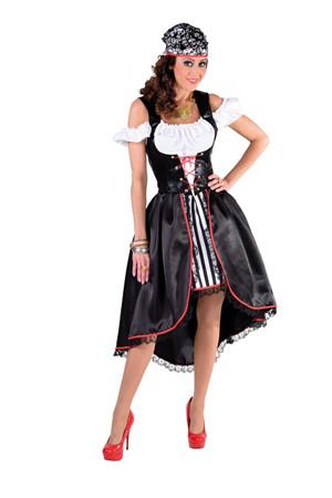 Piratendame-Kleid schwarz-weiß