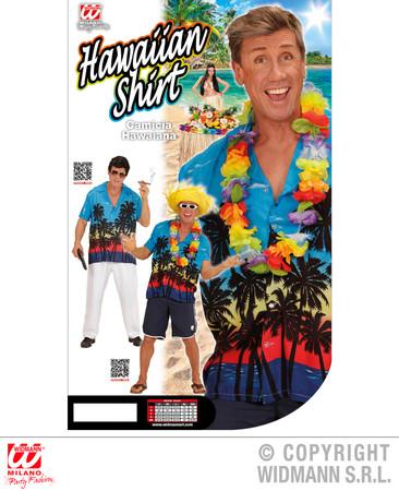 Hawaiiihemd blau mit Palmen – Bild 5