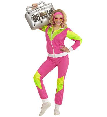 80er Jahre Trainingsanzug pink – Bild 1
