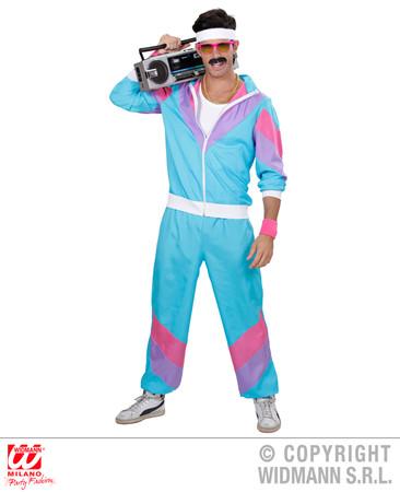 80er Jahre Trainingsanzug blau – Bild 1