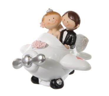 Figur Brautpaar im Flugzeug