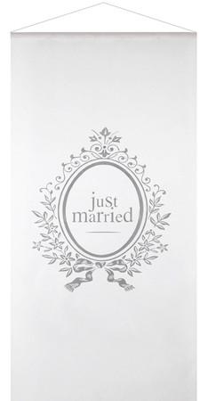 Banner Just Married weiß – Bild 1