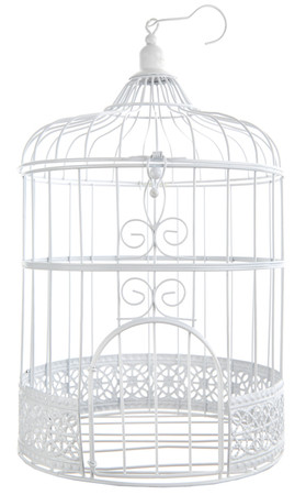 Deko Vogelkäfig weiß – Bild 1