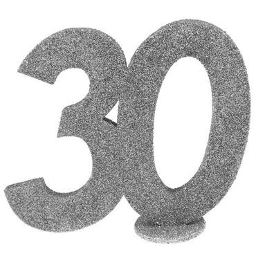 """Aufsteller Zahl """"30"""" silber – Bild 1"""