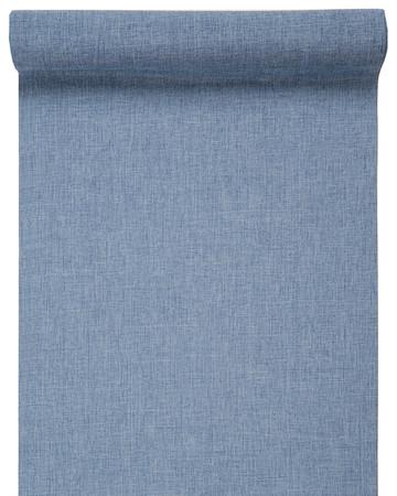 Dekoband Leinenoptik blau – Bild 1