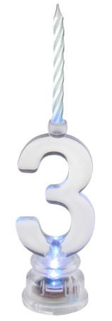 "LED-Geburtstagskerze ""3"" – Bild 1"