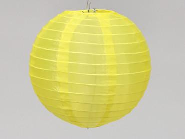 Stofflaterne Ø 20cm gelb