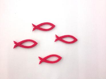 14 Fische offen Filz pink