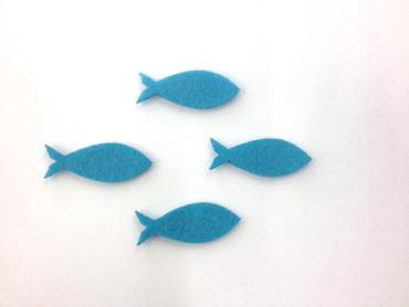 16 Fische geschlossen Filz türkis