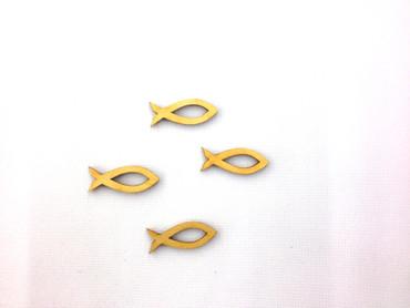 13 Fische mit  Ausschnitt Holz 30 mm