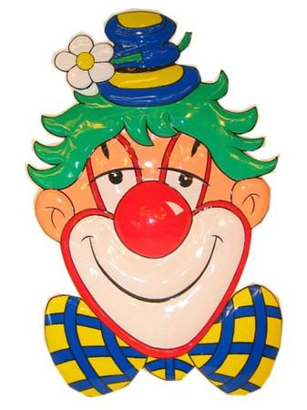Wanddeko Clown mit Fliege