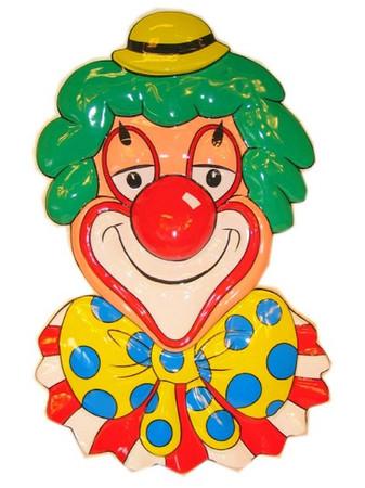 Wanddeko Clown mit gelben Hut
