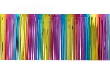 Fransengirlande regenbogen 10m x 25 cm