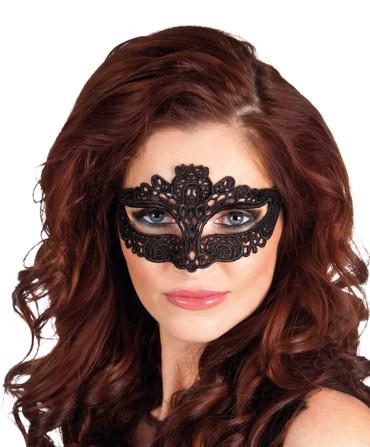 Augenmaske Masquerade Spitze schwarz – Bild 1