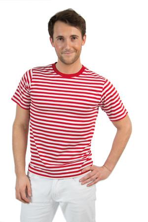 Kurzarm-Ringelshirt rot-weiß