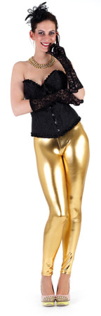 Glanz-Leggings gold