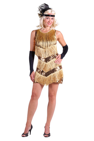 Charleston-Kleid ''Dazzle me'' gold – Bild 1