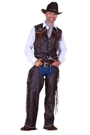 Cowboyweste braun – Bild 2