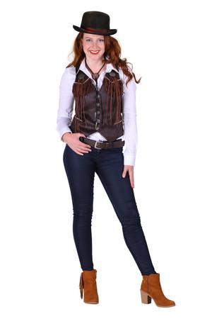 Cowboyweste braun für Damen – Bild 1