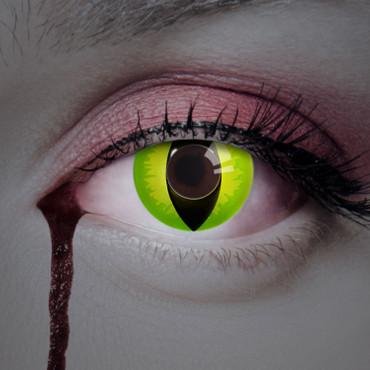 Kontaktlinse Devilish Cat grün – Bild 2