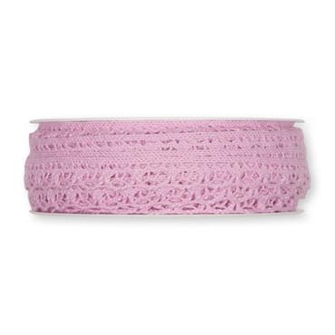 Häkelspitze Baumwolle 10m rosé – Bild 1