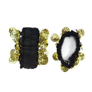 Armband mit Münzen schwarz