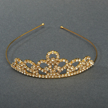 Strass Diadem gold