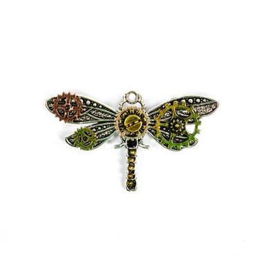 Brosche Steampunk Libelle
