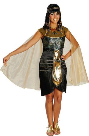 Ägypterin-Kleid mit Stirnband