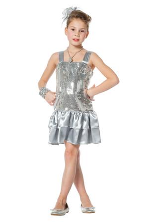 Pailletten-Kleid silber