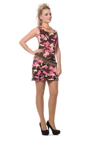 Armee-Kleid pink