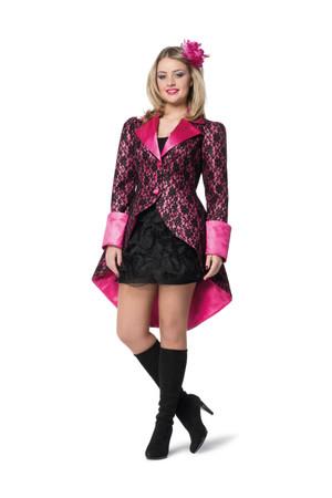 Jacke Spitze pink-schwarz