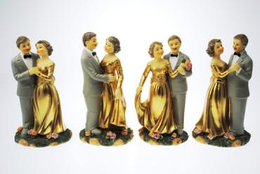 Figur Goldpaar 12cm