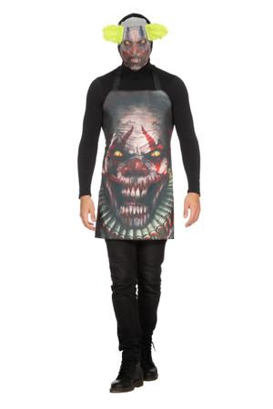 Schürze Scary Clown mit Maske