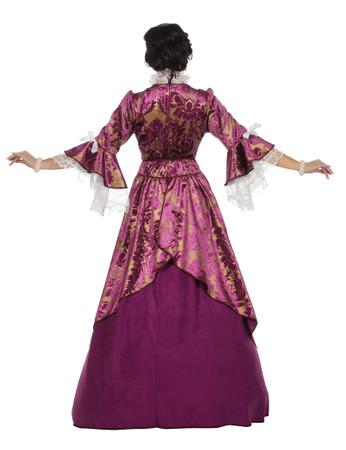 Marquise-Kleid violett – Bild 3
