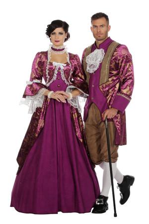 Marquise-Kleid violett – Bild 4