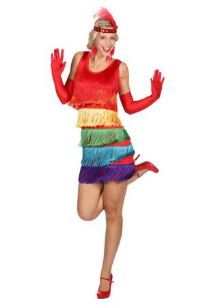 Kleid Charleston Regenbogen – Bild 1